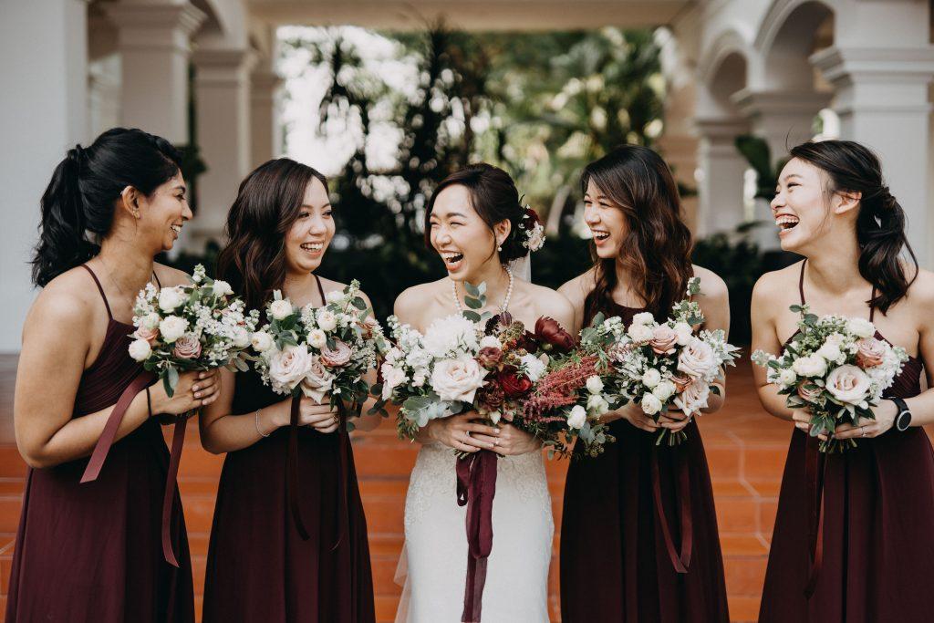 Pei Shan Jarrod Actual Day Wedding Capella Singapore